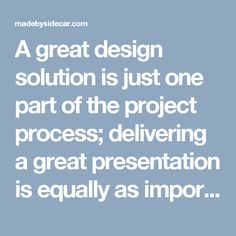 A great design solution is just one part of the project process; delivering a great presentation is equally as important. At Focus Lab, we figured out early on that a great delivery will make all the difference to a client and to the overall concept progression.