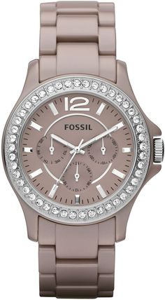 Fossil Riley Ceramic Watch Antique Pearl CE1063