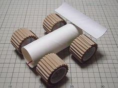 作り方 完成 Paper Roses, Decorative Objects, Crafts For Kids, Paper Crafts, Activities, Handmade, Arduino, Robot, Cardboard Car