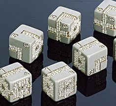 Chessex Dice - DM s dungeon dice - 16mm d6 with numbers and dungeons