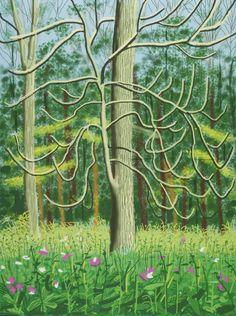 The Arrival of Spring in Woldgate, East Yorkshire  -   David Hockney  2011 -   British  b. 1937-