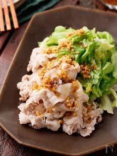 Pork Recipes, Asian Recipes, Cooking Recipes, Ethnic Recipes, Japanese Dishes, Japanese Food, Pork Roll, Some Recipe, Food And Drink