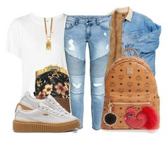 """""""Gangsta ~ Kehlani"""" by retrovintagepizza ❤ liked on Polyvore featuring R13, Casio, Y-3, MCM, Puma and MICHAEL Michael Kors"""
