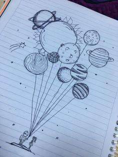 Pin de 🤪 em art ♡ em 2019 art sketches, art drawings e doodle art. Space Drawings, Cool Art Drawings, Pencil Art Drawings, Art Drawings Sketches, Doodle Drawings, Easy Drawings, Tattoo Drawings, Tattoo Sketches, Cute Drawings Tumblr
