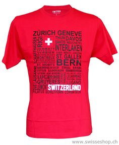 Red is always beautiful. And a white cross on  it is then Switzerland. This beautiful T-Shirt is one of the brand new collections from SwisseShop for all crazy Swiss Fans.