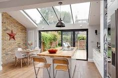 Victorian terrace conversion glass sloped roof victorian homes, luxury home Kitchen Extension Glass Roof, Kitchen Diner Extension, Glass Extension, Kitchen Extension Victorian Terrace, Kitchen Extension Terraced House, Orangery Extension Kitchen, House Extension Plans, House Extension Design, Extension Ideas