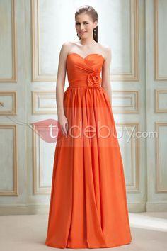 魅力ルーシュ帝国ウエストストラップレス床まで届く長さルバ花嫁介添人ドレス