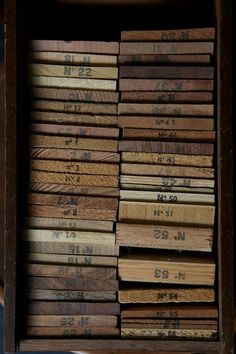 A box of wood samples from Leslie Williamson's…'pic of the day.
