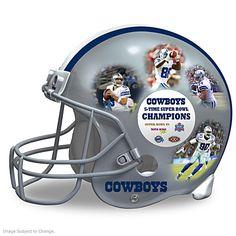 Dallas Cowboys Collage Helmet Sculpture