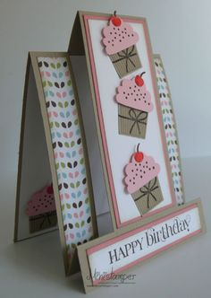 Cupcake-Stepper-Card-side-view  by Michelle Martin at Ministamper.com