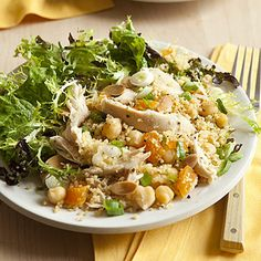 Couscous with Chicken, Chickpeas and Apricots recipe