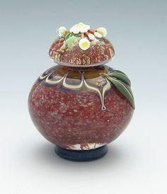 Red Crush bottle: Chris Pantos: Art Glass Perfume Bottle - Artful Home