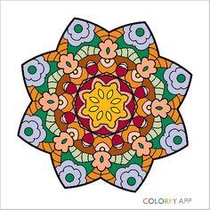 Mandala estrela flor