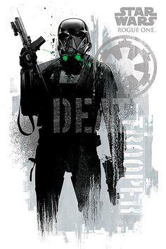 Póster Death Trooper. Rogue One: A Star Wars Story  Sensacional póster  basado en la última de las entregas de la saga de Star Wars.