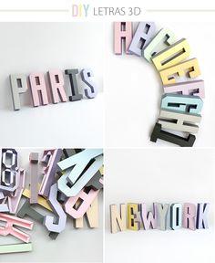 DIY : Letras en 3D por Mr. Printables