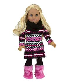 """Puffy Toggle Vest Zebra Top Black Pants fits 18/"""" American Girl Doll Clothes 3pc"""