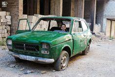 """""""أنا التكسي الأخضر بمرق عالحواجز ما حدا بيشوفني  قرب وجرب بس بخمسمية ليرة"""" الهامة في 18\5\2016 Hameh on 18\5\2016 #Syria #Damascus #دمشق #سوريا #عدسة_شاب_دمشقي"""