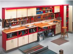 Space for your feet, so you're not kicking the workbench, and room to roll things under it like the air compressor