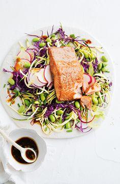 Tea Smoked Salmon with Zucchini Salad