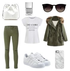 """""""Untitled #4"""" by natalie-bachova on Polyvore featuring J Brand, adidas Originals, Ally Fashion, WithChic, Sole Society, Ray-Ban and Uncommon"""