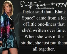 One of my favourite songs in the entire world! It is a masterpiece! Taylor Swift New, Taylor Swift Facts, Taylor Swift Quotes, Taylor Swift Pictures, You Oughta Know, One Liner, Love Her, 1989 Tour, Blank Space