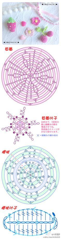 [织]钩编小植物图解@Sasa手工 来自十月霜子 - 微博