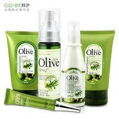 Brand 5Pcs Face Skin Care Set Olive Extract Mask + Cleanser + Eye+Cream + Toner + Lotion Whitening Moisturizing Shrink Pores