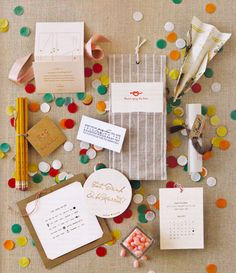 I like everything about this: the knot logo, the circle confetti, everything.