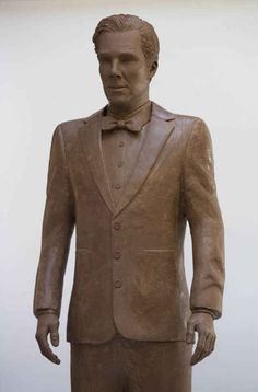 Don't get too excited or anything but someone made a true-to-life Benedict Cumberbatch out of chocolate.