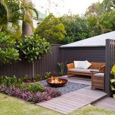 34 Modest Fire Pit and Seating Area for Backyard Landscaping Ideas - Page 18 of Small Patio Garden Design Ideas For Your Backyard 4265 Awesome Backyard Fire Pits with Seating Ideas - HomeSpecially backyard ideas for small yards layout pi Small Garden Landscape Design, Small Backyard Design, Backyard Seating, Backyard Patio Designs, Small Backyard Landscaping, Landscape Designs, Landscaping Design, Backyard Layout, Backyard Ideas For Small Yards