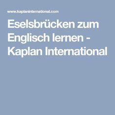 Eselsbrücken zum Englisch lernen - Kaplan International
