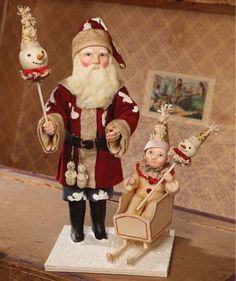 Santa and Me. A  Vickie Smyers design for Bethany Lowe Designs.
