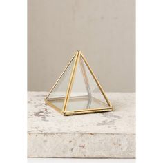 Magical Thinking Pyramid Mirror Box ($14) ❤ liked on Polyvore featuring home, home decor, small item storage, modern home accessories, modern storage boxes, urban outfitters and modern home decor