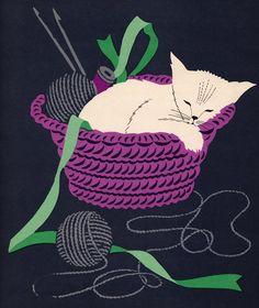.Chat au tricot