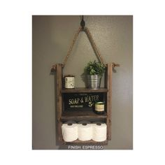 Rustic Wood and Rope Ladder Shelf [ D E S C R I P T I O N ] The Hanging Rope & Ladder Shelf will make a statement in any home with its rustic yet modern flare and can be utilized anywhere in your house without worry. It works great as additional storage for your bathroom, hanging in your kitchen as a spice rack, or in your laundry room for supplies. Built with solid wood to last. _ _ _ _ _ _ _ _ _ _ _ _ _ _ _ _ _ _ _ _ _ _ _ _ _ _ _ _ _ _ _ _ _ _ _ _ _ _ _ _ _ _ _ _ _ _ _ _ _ _ _ _ _ _  [ F…