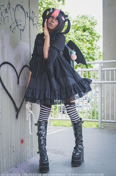 Gothic Outfits, Gothic Dress, Edgy Outfits, Grunge Outfits, Fashion Outfits, Pastel Goth Fashion, Kawaii Fashion, Gothic Fashion, Emo Fashion