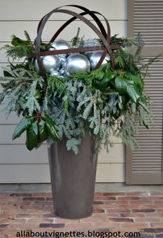my #sphere with orbs All About Vignettes: #Holiday Urns