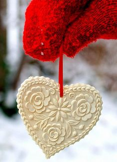 Make a heart of Polymer Clay ..you may need to make your own mold first..but this is beautiful !