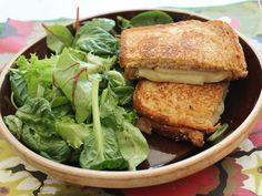 Home Skillet - Cooking Blog: Grilled Cheese with Fontina, Pear, and Walnut Spread and Mixed Greens