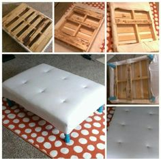 An ottoman out of pallets