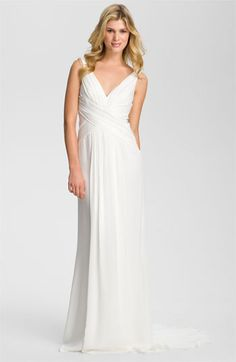 O M G     Nicole Miller V-Neck Silk Gown available at #Nordstrom