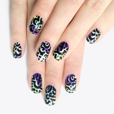 Alfa.K X Paulette Nail Stickers ($14) ❤ liked on Polyvore featuring beauty products, nail care, nail treatments, makeup, nails and nail wraps