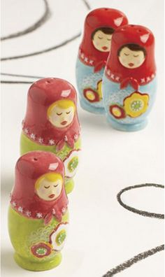 Perfect combination- Russian Dolls and salt and pepper shakers.