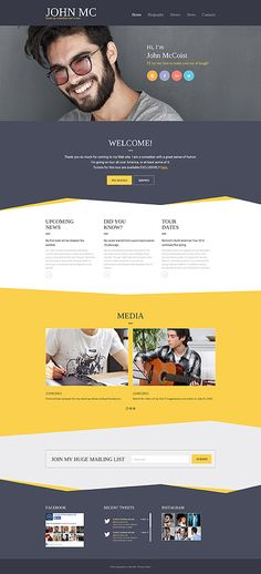 Comedian & Actor's Portfolio #website #template. #themes #business…