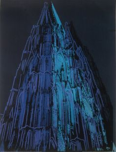 Cologne Cathedral, c.1985 (Blue) Art Print