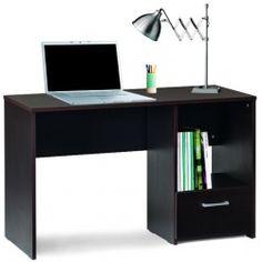 Γραφείο σε βέγκε χρώμα με ένα συρτάρι και ένα ράφι Kit-463