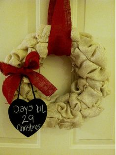 Countdown to Christmas in Style! Burlap Countdown Wreath!