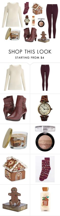 """""""Gingerbread Inspired"""" by stephaniefb ❤ liked on Polyvore featuring Velvet by Graham & Spencer, Walking Cradles, Cartier, SONOMA Goods for Life, Forever 21, Villeroy & Boch, Dorothy Perkins and Paula Skene"""