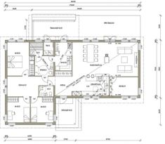 L-16104/ 145 m² My House, House Plans, Floor Plans, Cabin, Windows, Flooring, How To Plan, Deco, Architecture