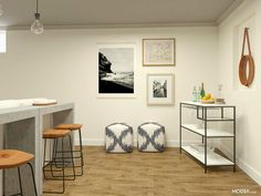 3 Ways to Design a Fun and Functional Basement Family Room | Modsy Blog